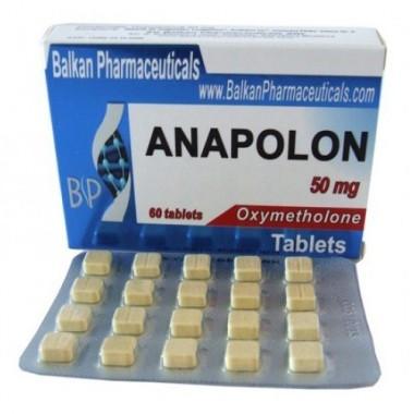 Anapolon Анаполон 50 мг, 100 таблеток, Balkan Pharmaceuticals в Атырау