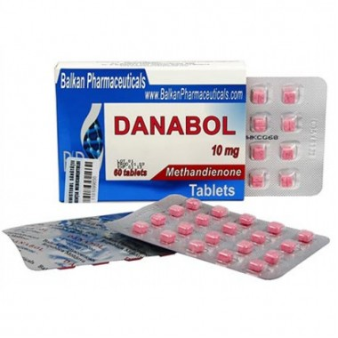 Danabol Данабол Метандиенон Метан 10 мг, 100 таблеток, Balkan Pharmaceuticals в Атырау
