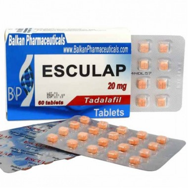 Esculap Тадалафил Эскулап 20 мг, 20 таблеток, Balkan Pharmaceuticals в Атырау